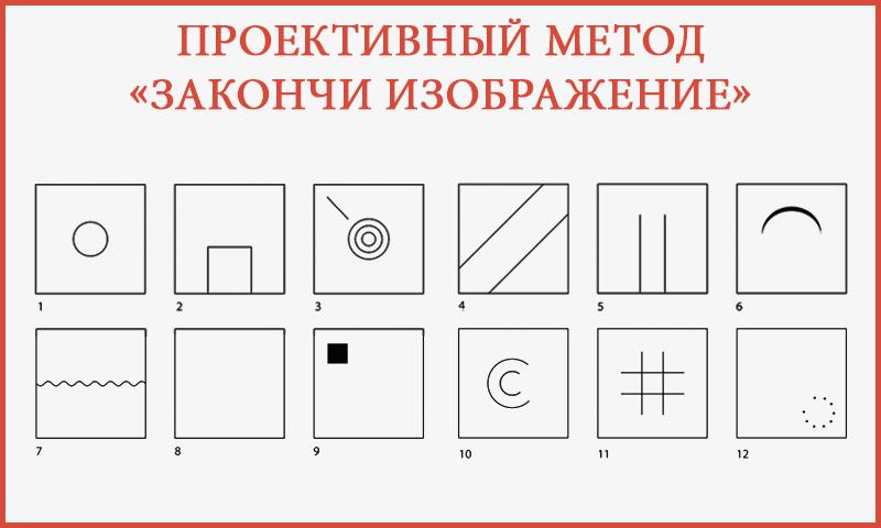 Проективный метод «Закончи изображение»