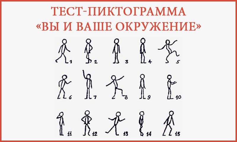 Тест-пиктограмма «Вы и ваше окружение»